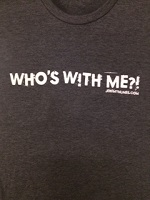 picture of Who's With Me?! Grey T-Shirt with FREE Shipping!