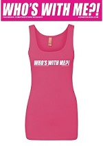 picture of Who's With Me?! Pink Tank Top with FREE Shipping!