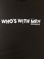 picture of Who's With Me?! Black Tee with FREE Shipping!