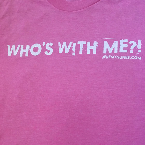 picture of Who's With Me?! Pink Tee with FREE Shipping!